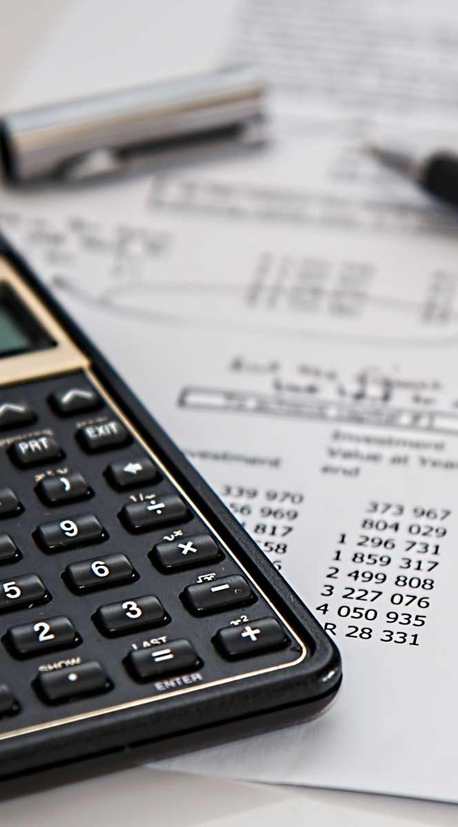 Detalle de datos y calculadora