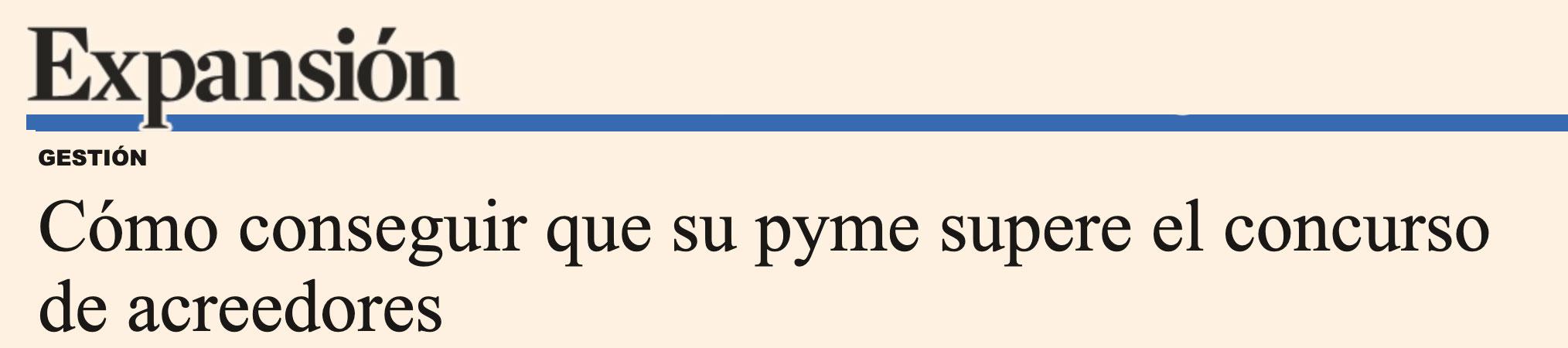 Concurso de acreedores en expansion para pymes