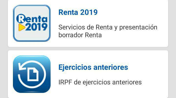 estado declaracion renta hacienda 2019